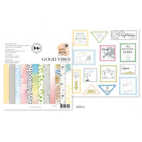 Good Vibes - pad 15x15cm