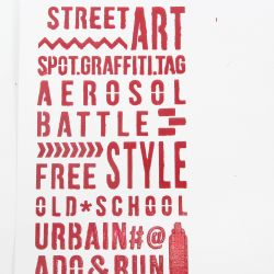 Stencil Mots urbains - DIY and Cie