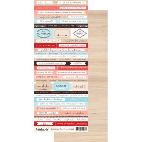Labels sheet Words Hippie Chic Lempa