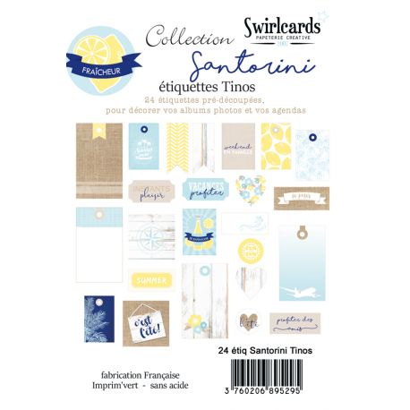 Labels sheet Santorini Tinos