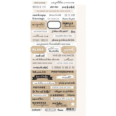 Labels sheet Words Santorini Naxos
