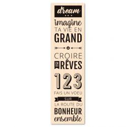 Wooden stamp Bois Dream- Les Ateliers de Karine