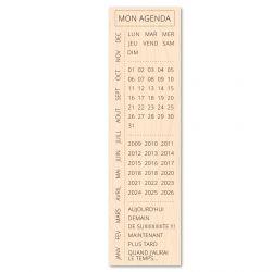 Wooden stamp Bois Mon agenda- Les Ateliers de Karine