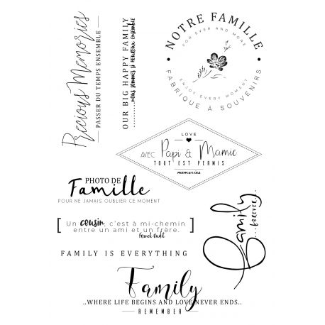 Tampon clear Happy Family - Mes Ptits Ciseaux