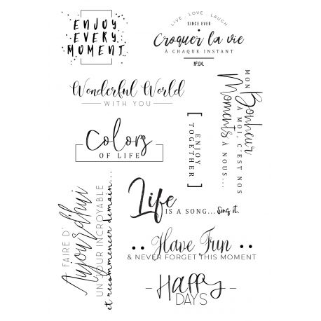 Clear stamp Happy Days - Mes Ptits Ciseaux