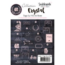 Crystal Vie en Rose tags
