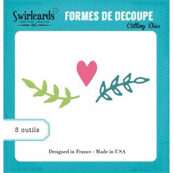 Die Branches coeur - SWIRLCARDS