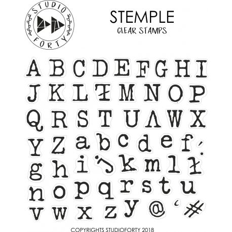 Clear Stamps-Alpha Typed- Studio Forty