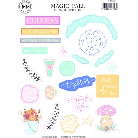 Magic fall chipboard stickers- Studio Forty
