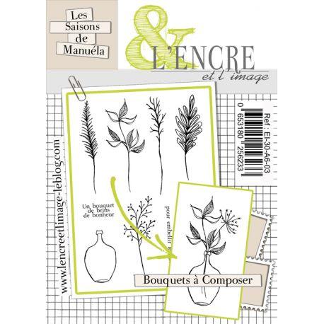 Tampon clear Bouquets à composer - L'Encre et l'Image