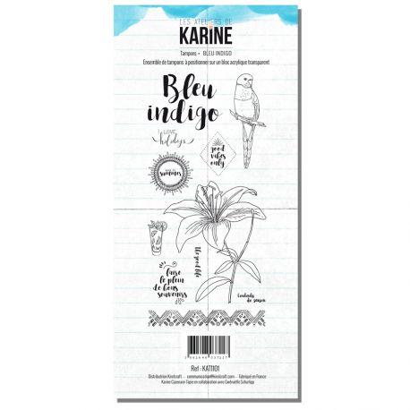 Tampon clear Blue Indigo- Les Ateliers de Karine