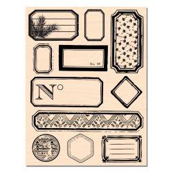 Wooden Stamp 100% étiquettes-Les Ateliers de Karine