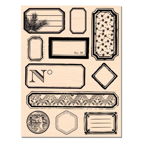 Tampon Bois étiquettes-Les Ateliers de Karine
