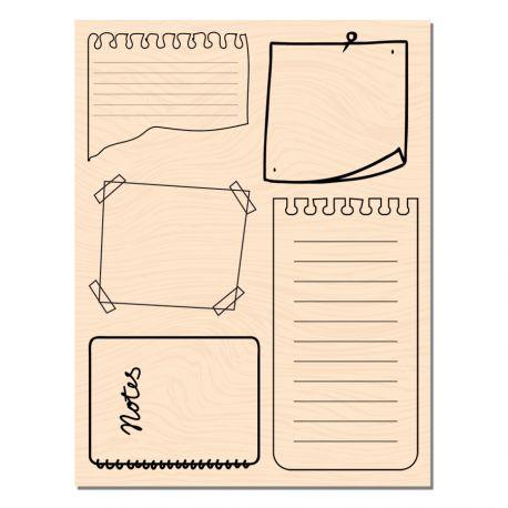 Tampon Bois Notes-Les Ateliers de Karine