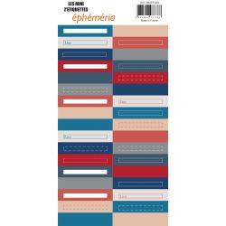 Mini Z'étiquettes Blue Batik-éphéméria