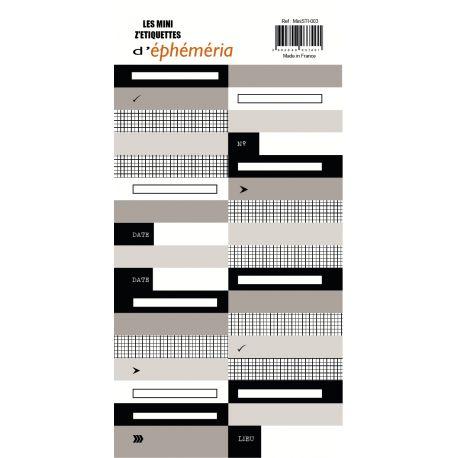 Mini Z'étiquettes Noir beige