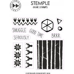 Clear Stamps-Snuggle Studio Forty