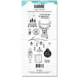 Clear Stamp Carte Blanche Ho Ho Ho- Les Ateliers de Karine