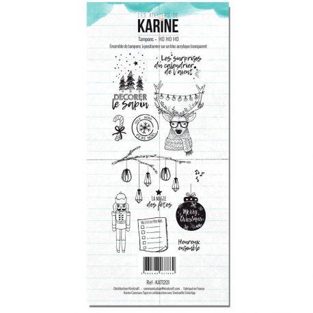 Tampon clear Carte Blanche Ho Ho Ho- Les Ateliers de Karine