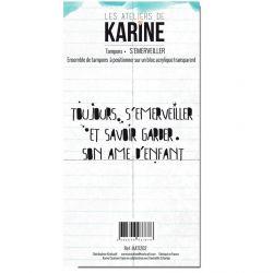 Tampon clear Carte Blanche S'émerveiller- Les Ateliers de Karine