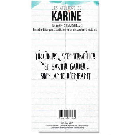 Clear Stamp Carte Blanche S'émerveiller- Les Ateliers de Karine