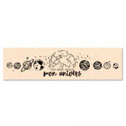 Wooden Stamp Mon univers-Les Ateliers de Karine