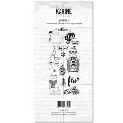 Clear Stamp Carte Blanche De saison- Les Ateliers de Karine