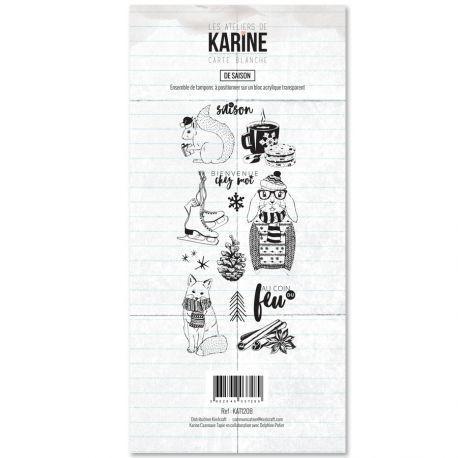 Tampon clear Carte Blanche De saison- Les Ateliers de Karine