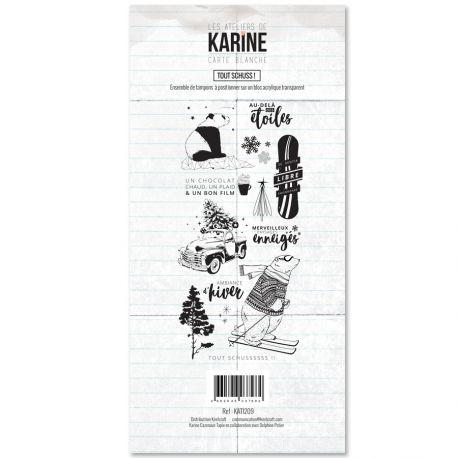 Tampon clear Carte Blanche Tout Schuss- Les Ateliers de Karine