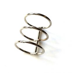 Binding 3 rings 30mm silver
