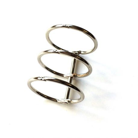 Binding 3 rings 30mm silver