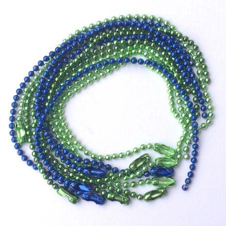 Ball Chain box hades of blue green