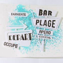 Dies et tampons Panneau de motel - DIY and Cie
