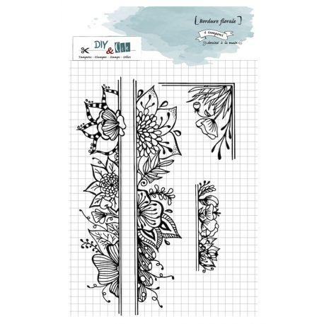 Tampon Bordures florale- DIY and Cie
