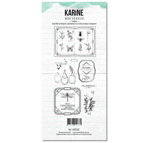 Clear Stamp Green&Graphik Mon herbier- Les Ateliers de Karine