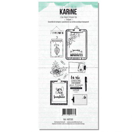 Tampon clear Green&Graphik J'en pince pour toi- Les Ateliers de Karine