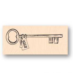 Wooden Stamp La clé du bonheur-Les Ateliers de Karine