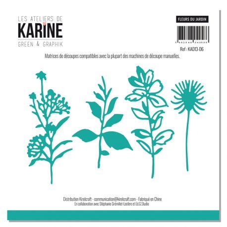 Set of 4 dies Fleurs du jardin-Les Ateliers de Karine