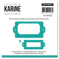 Set of 3 dies Porte étiquettes-Les Ateliers de Karine