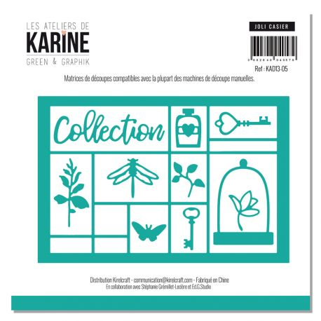 Set of 10 dies Joli casier-Les Ateliers de Karine