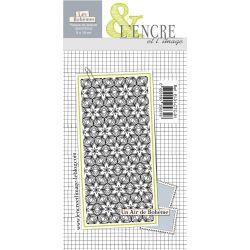 Unmounted texture rubberstamp sheet Bohemian Life - L'Encre et l'Image
