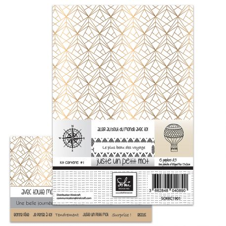 Kit carterie A5 - Juste un petit mot - SOKAI