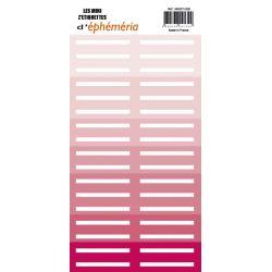 Mini Z'étiquettes Nuances de rose
