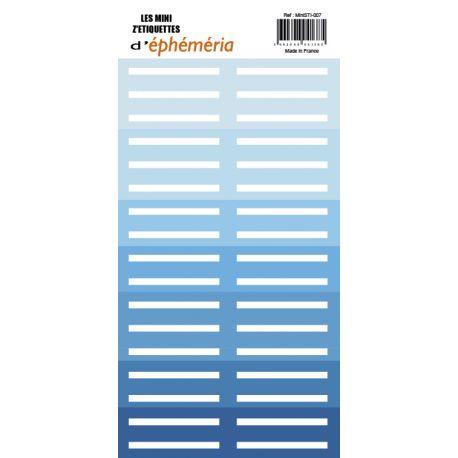 Mini Z'étiquettes Nuances de bleu