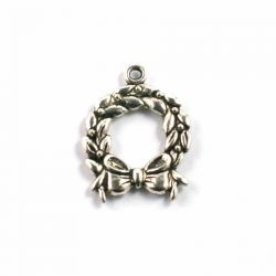 Breloque-charm couronne noel (lot de 20)