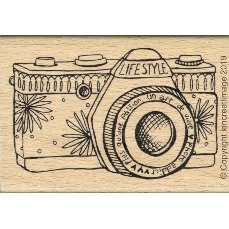 Tampon Bois Photo Addict - L'Encre et l'Image