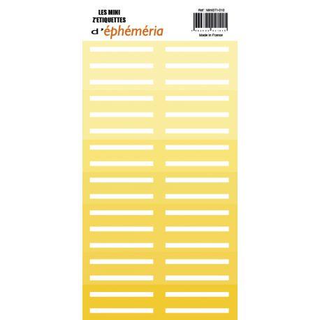 Mini Z'étiquettes Nuances de jaune