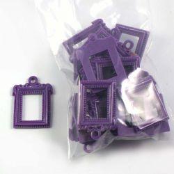 Cadre rect. baroque violet (lot de 20)