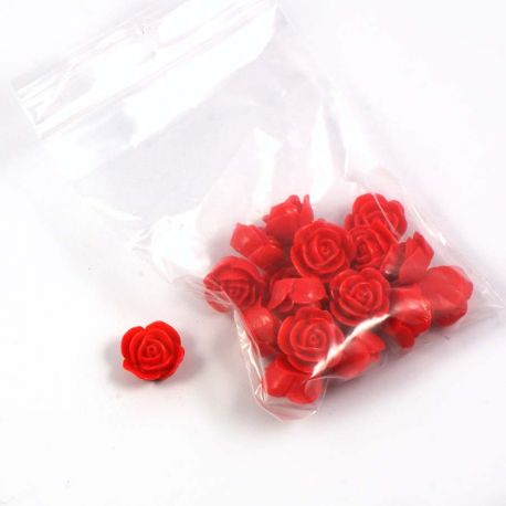 Rose en resine rouge (lot de 20)