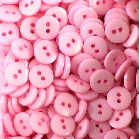 Boutons rose clair résine 1cm (lot de 100)